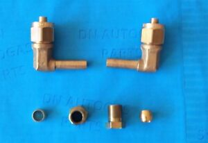 2 x LPG Autogas 8mm Flexible Pipe Fitting, Ends, FARO TYPE Connector, elbow