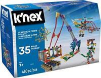 K'NEX – 35 Model Building Set – 480 Pieces – For Ages 7+ Construction