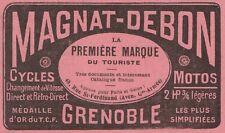 Y8194 Bici & Moto MAGNAT-DEBON - Grenoble - Pubblicità d'epoca - 1912 Old advert