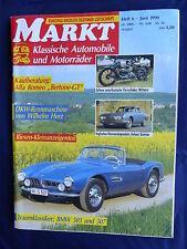 BMW 503 507 von 1956 - Titel-Story auf 9 Seiten - Oldtimer Markt Heft 6/1990