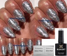 BLUESKY LUXURY SILVER CHUNKY GLITTER KD32 NAIL GEL POLISH UV LED SOAK OFF