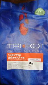 Tri Koi Vital - sinkendes Koifutter für die kalte Jahreszeit - 4,5 mm - 5 kg
