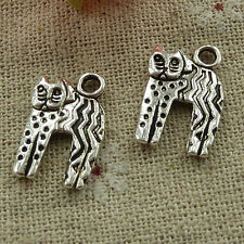 free ship 120 pieces tibetan silver cat charms 19x12mm #3395