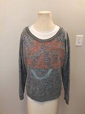 Women's Volcom Stone  Crewneck Sweater Size Medium Off Shoulder