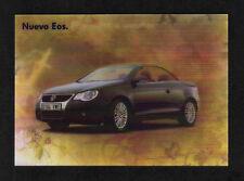 "Volkswagen ""Eos"" Prismatic Ribbed Plastic Advertising Postcard"