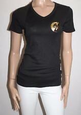 TARGET Brand Black Gold Printed Short Sleeve Rib Tee Size M BNWT #TB86
