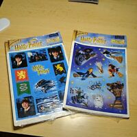 2 Different Packs of Harry Potter Stickers by Heartline 4 sheets each