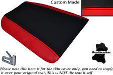 Negro Y Rojo Custom encaja Cagiva Mito 125. 90-94. Trasera de piel cubierta de asiento solamente