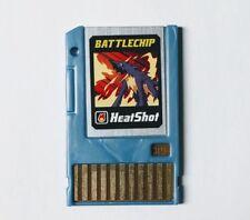 2004 Takara Co Mega Man Battle Network Battlechip 019 Heat Shot PET NetNavi