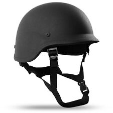 X-Large Black PASGT Level IIIA Military Bulletproof made w/ Kevlar Combat Helmet