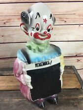 RARE Vintage Blackboard Hobo Clown Cookie Jar American Bisque
