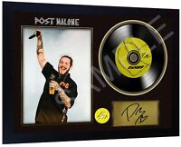 Post Malone b&B SIGNED FRAMED PHOTO PRINT AND Mini LP Perfect Gift