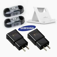 OEM Samsung Galaxy Note 9 S8 S9 Plus Fast Wall Charger Plug USB C Cable LOT New