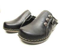 Spring Step Endor Women's Clogs Black Leather Size  EU 37