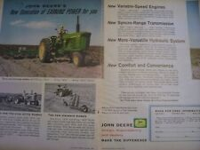 Vintage John Deere Advertising Sheet -New Generation Tractors -1961