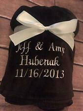 Personalized Plush Throw Blanket by Wedding Tokens