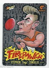2015 Select Champions Firepower Caricature Laser Foil (FC25) Stephen CONIGLIO
