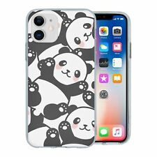 For Apple iPhone 11 Silicone Case Panda Pattern - S3804