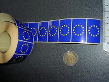 100 Drapeaux adhésifs EUROPE 37 x 22 mm, lot mini flags UE Europa auto-collants