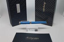 Montegrappa Italia Rollerball pen, Resin, Blue, Palladium trim, ISITRRPB