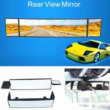 Three Folds 380mm SUV Rear View Mirror Wide Angle Panoramic Anti-dazzling Mirror