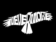 Poe Raven Nevermore Wings Vinyl Decal Car Wall Window Sticker CHOOSE SIZE COLOR