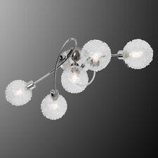 LED Deckenleuchte Ryder Deckenlampe chrom Glas Drahtgeflecht Leuchtmittel 5flg