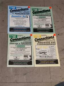 4 HAMPSHIRE COUNTY COUNCIL BUS TIMETABLE BOOKS