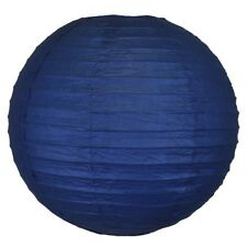 "Chinese Japanese Paper Lantern/Lamp 14"" Navy Blue Color Just Artifacts Brand"