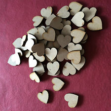 100x Wooden Heart shapes Laser Cut MDF. Blank Embellishments Craft 20mm x 20mm