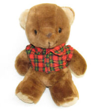 VTG 80S BROWN TEDDY BEAR PLAID SHIRT