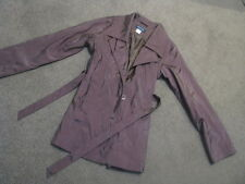 LADIES BROWN SHIMMERY LONG COAT JACKET SIZE 12  EXCLLENT COND