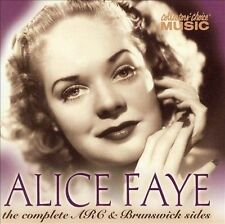 "ALICE FAYE - ""The Complete ARC and Brunswick Sides"" - CD"