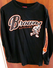 CLEVELAND BROWNS youth large T shirt longsleeves tee NFL size 14-16 running back