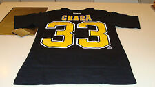 Boston Bruins Zdeno Chara S Reebok Name Number Team Logo T Shirt Hockey NHL