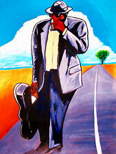 ROBERT JOHNSON PRINT poster king of the delta blues guitar gibson crossroads cd