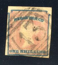 1854 Victoria SC F1, Registration - 1sh Rose & Blue - Used, Nice Margins