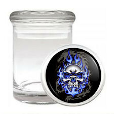 Skull Odorless Air Tight Medical Glass Jar Container Design-015