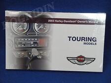2003 Harley Davidson touring electra glide road king street flht owners manual