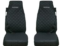 SCANIA Truck Seat Covers 2 piece (1+1)BLACK