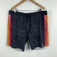 Billabong Mens Board Shorts Size 38 Multicoloured Floral Drawstring Swim Shorts
