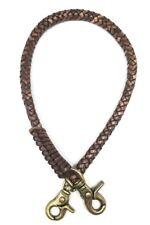 Biker chain braided leather thick Heavy Duty Trucker brass Chain wallets vintage