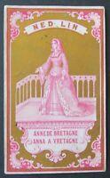 Ancienne étiquette FIL ANNE DE BRETAGNE NED LIN  linen thread label 16
