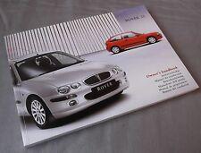 Genuine Original Rover 25 Owners Manual Handbook in Plastic Wallet VDC000461EN