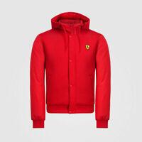 Scuderia Ferrari Formule 1 Rouge Fermeture Éclair Blouson Capuche VESTE L XL XXL