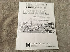 Data East Heavy Barrel Service & Operation Manual
