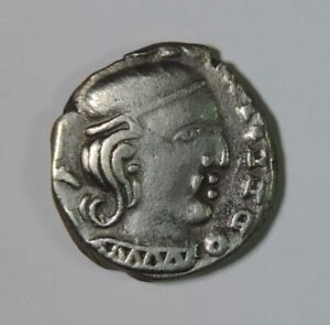348-378 AD India Western Satraps Rudrasena III Silver Drachm Coin