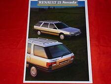 Renault 21 nevada tl GTS GTX GTD Turbo D familiar folleto + lista de precios 1987