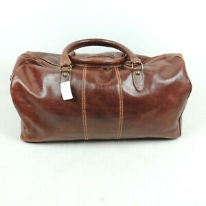 Leather Made in Italy Mens Carry on Bag Gym Luggage Nice Missing Shoulder Strap
