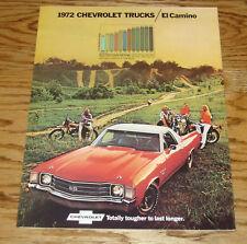 1972 Chevrolet El Camino Foldout Sales Brochure 72 Chevy